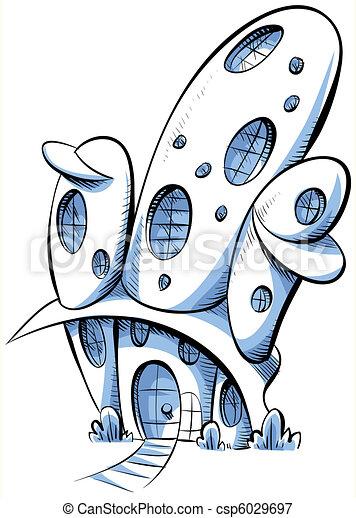 Maison avenir house dessin anim futuriste illustrations de stock rechercher des clipart - Avenir maison ...