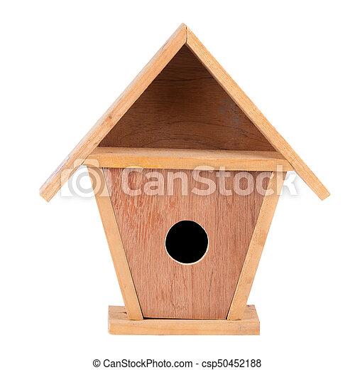 Maison Bois Isole Fond Oiseau Blanc