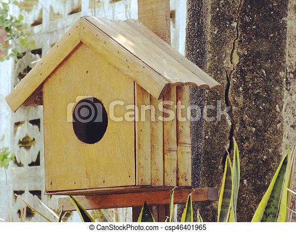 Maison Bois Oiseau Jardin Dehors