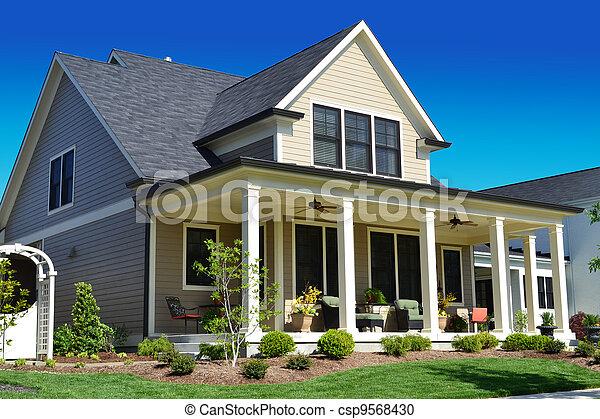 maison, bronzage, suburbain - csp9568430