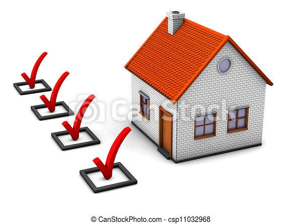 maison, chèque, ton - csp11032968