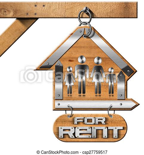 maison, chaîne, loyer, famille, signe - csp27759517