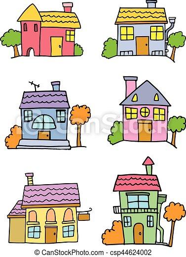 Maison dessin anim color griffonnage art color - Dessin colore ...