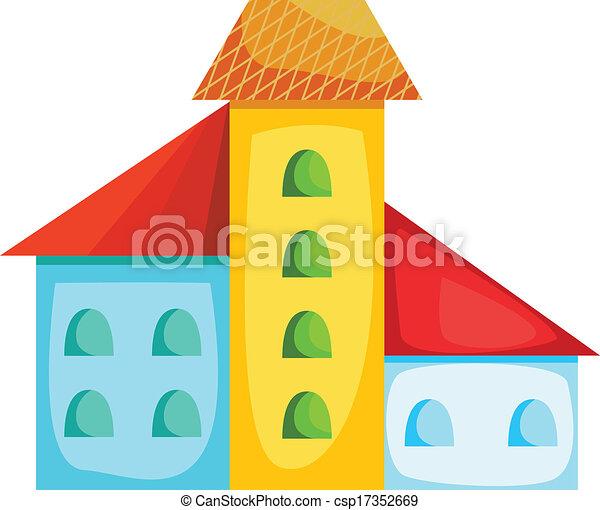 maison, dessin animé, coloré - csp17352669