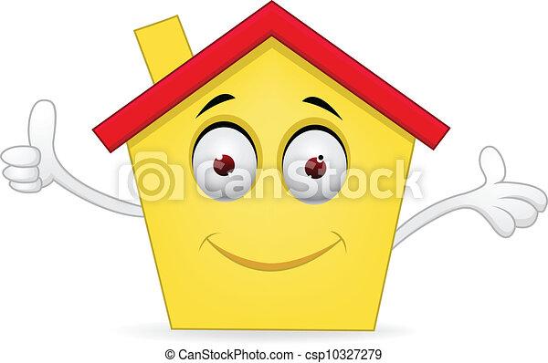 maison, dessin animé - csp10327279
