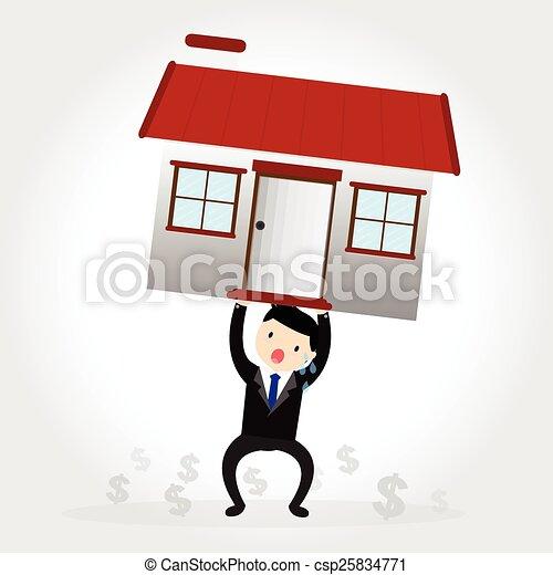 maison, dette - csp25834771