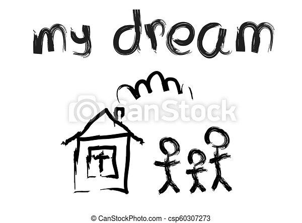 maison, deux, famille - csp60307273