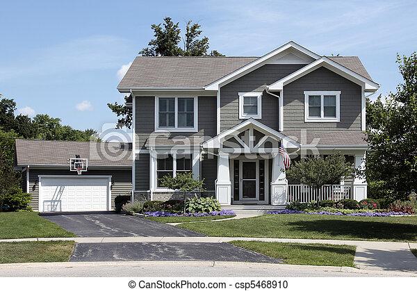 Americain Maison maison, drapeau américain. panier, maison, drapeau, basket-ball