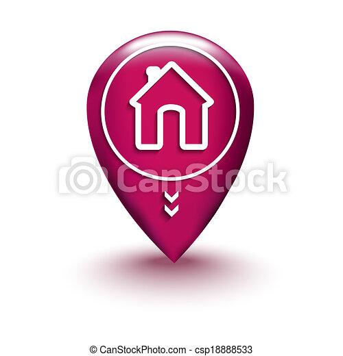 maison, emplacement, carte - csp18888533