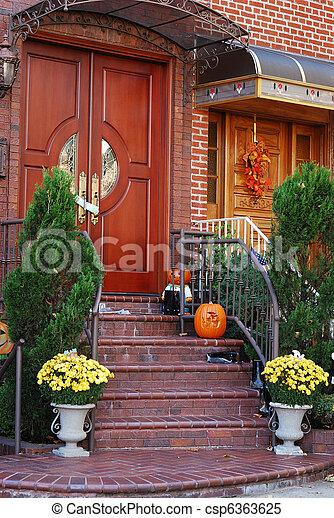 maison, entrée, principal - csp6363625