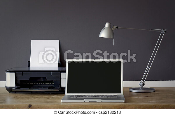 maison, frontal, bureau bureau - csp2132213