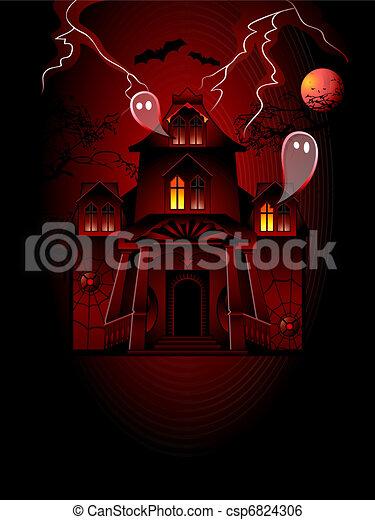 maison, hanté - csp6824306