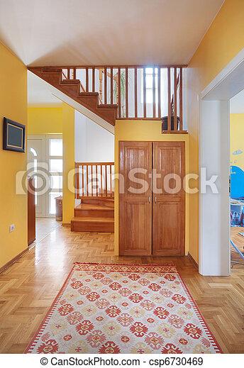 maison, hypnotisez couloir - csp6730469