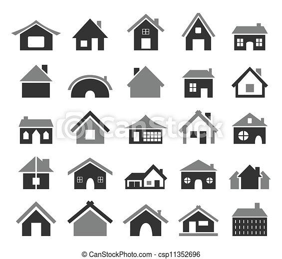 maison, icône - csp11352696