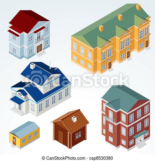 maison, isométrique, vecteur, #1 - csp8530380