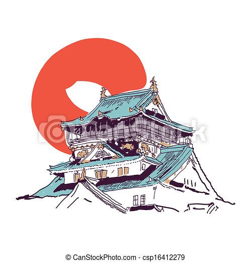 maison japonaise dessin croquis maison japonaise traditionnel vecteur dessin. Black Bedroom Furniture Sets. Home Design Ideas