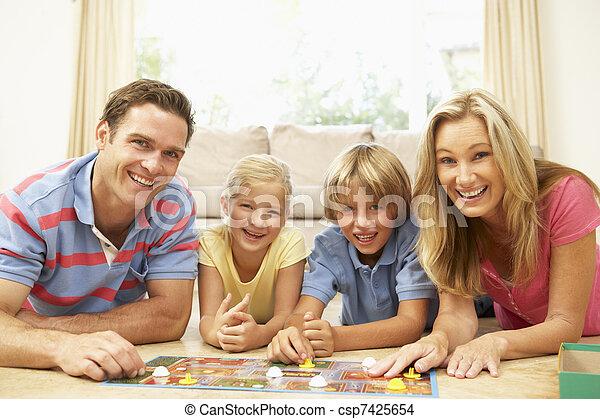 Maison Jeu Jouer Famille Planche Canstock