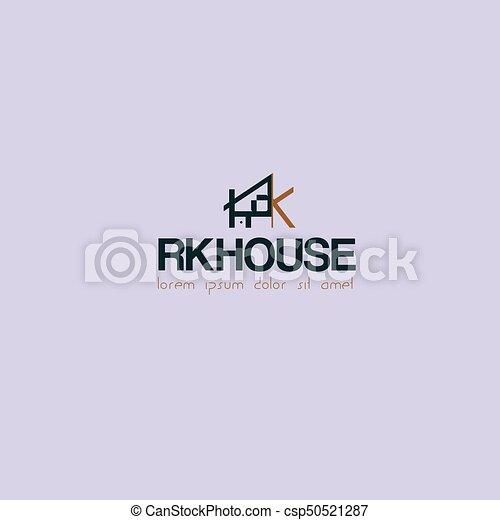 maison, logo - csp50521287