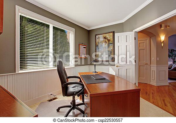 Maison luxe bureau salle tailler salle bureau bois gris
