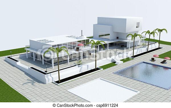 maison luxe maison 3d luxe image dessin rechercher des illustrations clipart et des. Black Bedroom Furniture Sets. Home Design Ideas