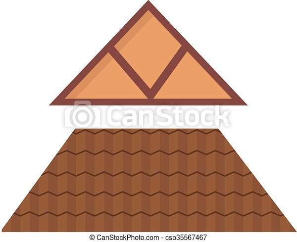 maison m tal triangulaire toit construction architecture vector dessin anim vrai. Black Bedroom Furniture Sets. Home Design Ideas
