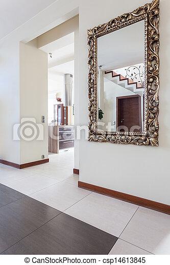 Miroir Couloir maison, miroir, -, couloir, chic. classique, maison, chic