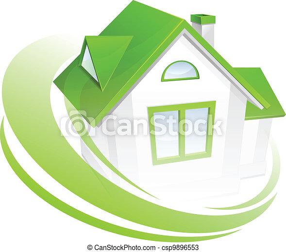 maison, modèle, cercle - csp9896553