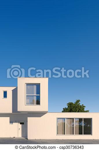 maison, moderne, minimal, cubique