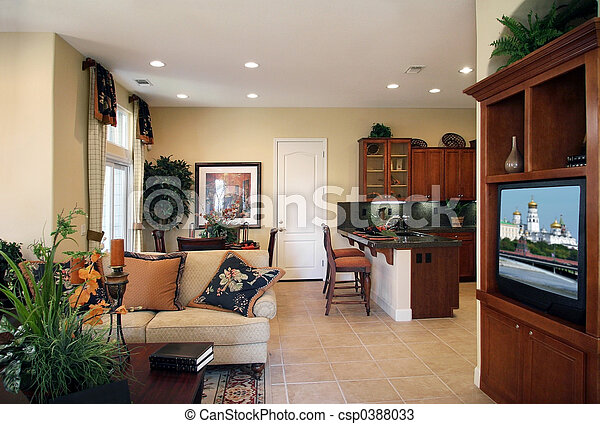 maison, moderne - csp0388033