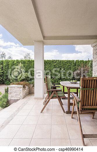maison, moderne, terrasse
