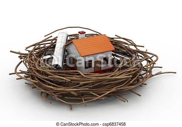 maison nid diagramme business illustration de stock recherchez des clip art des dessins. Black Bedroom Furniture Sets. Home Design Ideas