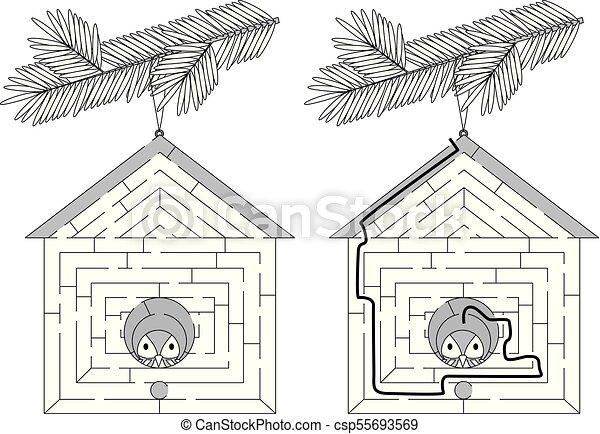 Maison Oiseau Facile Labyrinthe