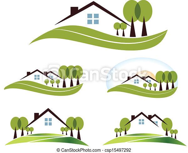 maison, parc - csp15497292