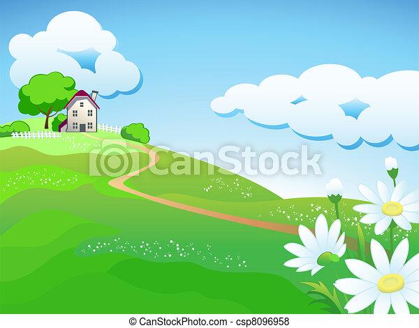 maison, pays, doux - csp8096958