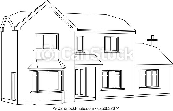 Maison, Perspective   Csp6832874