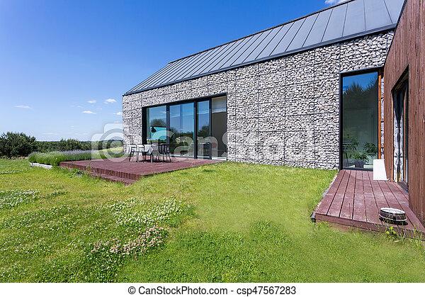 maison pierre moderne terrasse jardin pierre maison moderne terrasse grand. Black Bedroom Furniture Sets. Home Design Ideas