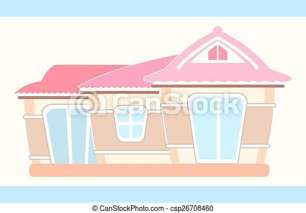 maison, poupée, mignon, pastel - csp26708460