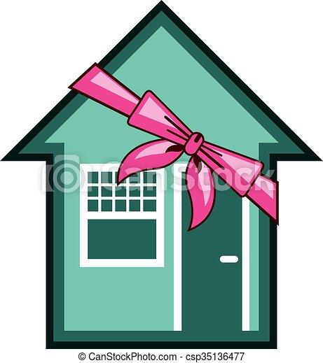 maison, présent, cadeau - csp35136477