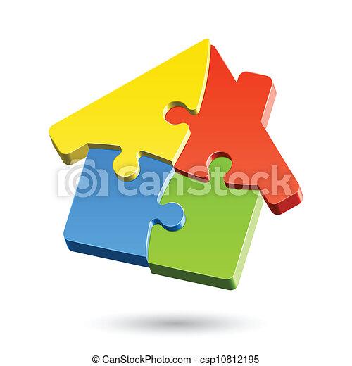 maison, puzzle - csp10812195