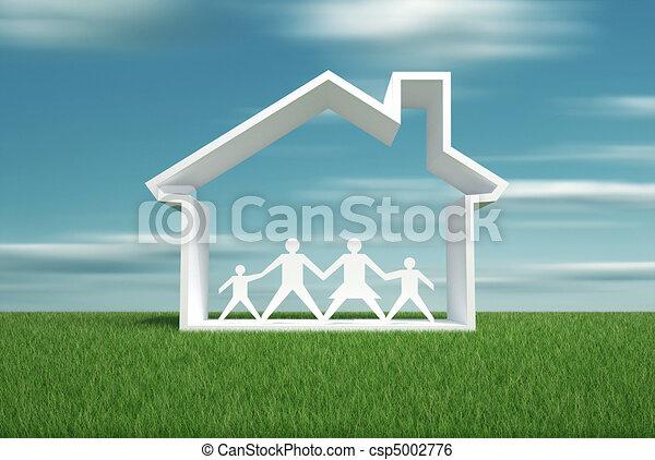 maison, rêve - csp5002776