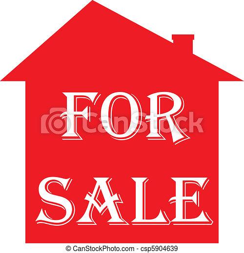 maison, signe vente - csp5904639