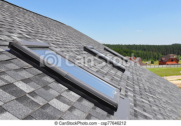 Maison, skylight., asphalte, toiture, toit, fenetres, lucarnes, waterproofing., zona, grenier ...