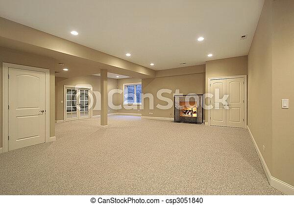 maison, sous-sol, construction, nouveau - csp3051840