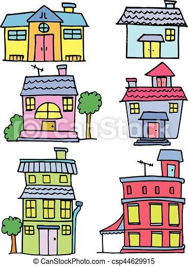 Maison stockage collection color dessin anim art - Dessin colore ...