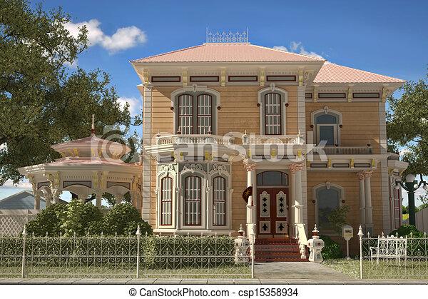 Maison Style Victorien Exterior Luxe Garden Style Maison