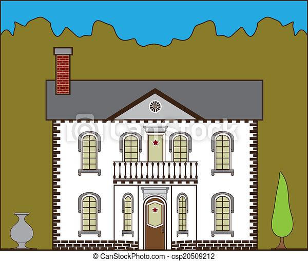 maison, suburbain - csp20509212