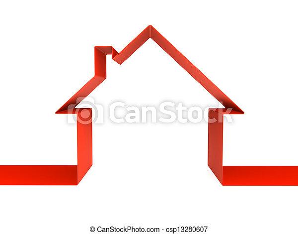 maison symbole isol rendre blanc vert 3d. Black Bedroom Furniture Sets. Home Design Ideas