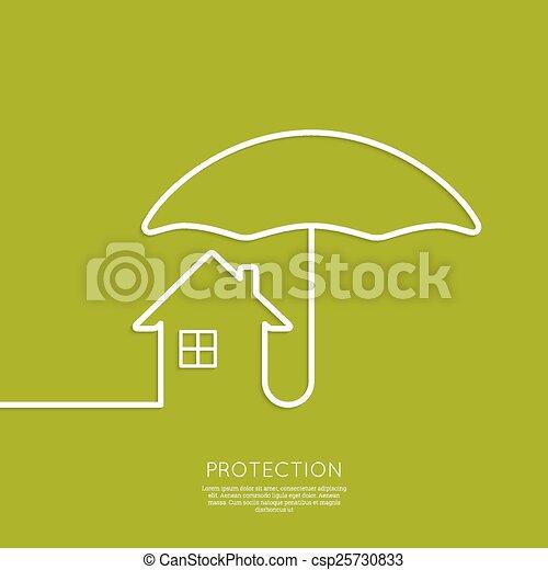maison, symbole - csp25730833