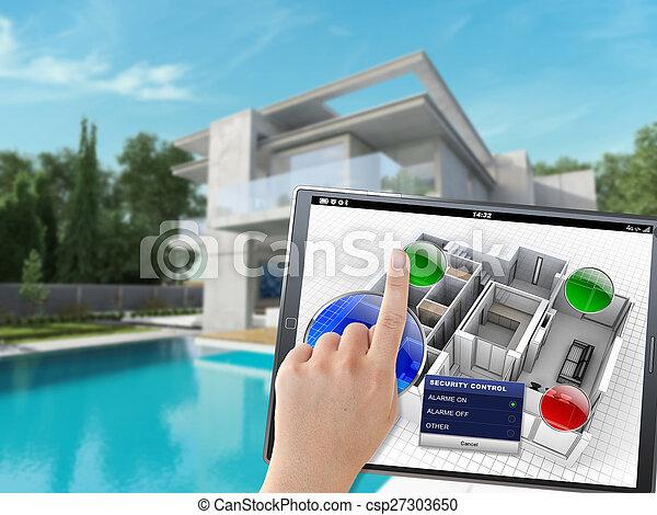 maison, système, automation - csp27303650