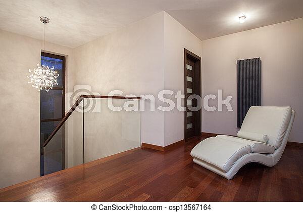 Maison, -, travertin, couloir, luxueux. Travertin, maison,... image ...
